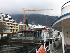 The boat across Lake Lucerne stopped in Weggis