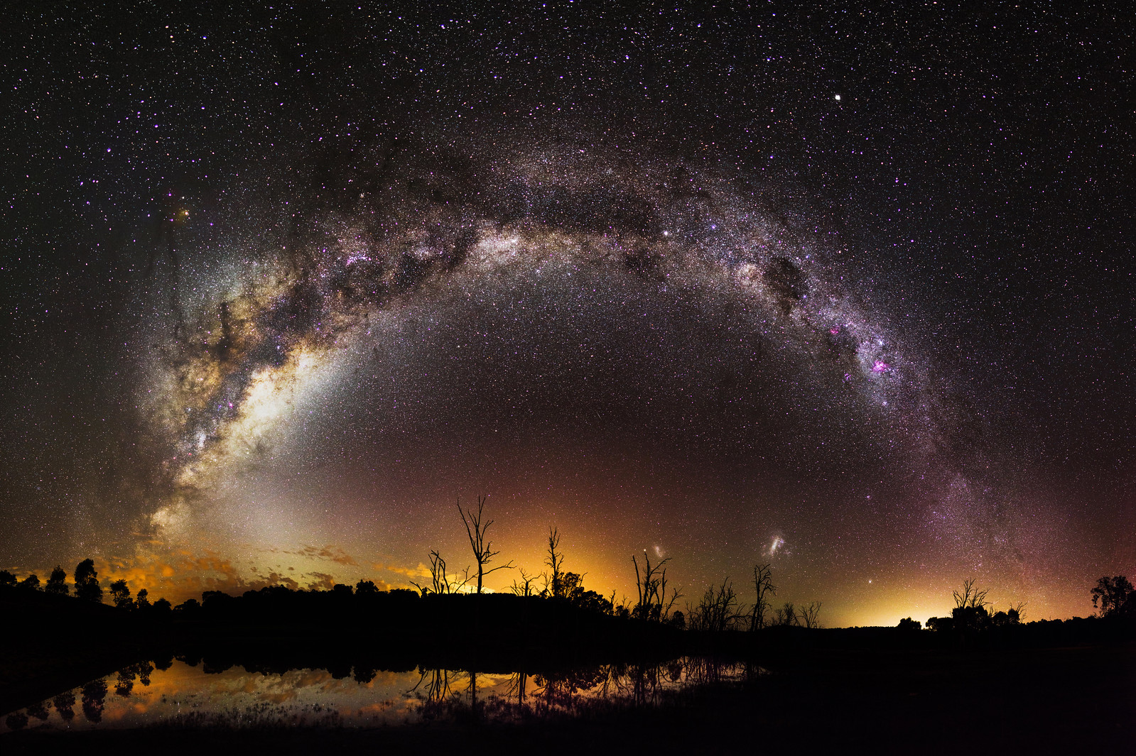 Milky Way over Harvey Dam, Western Australia