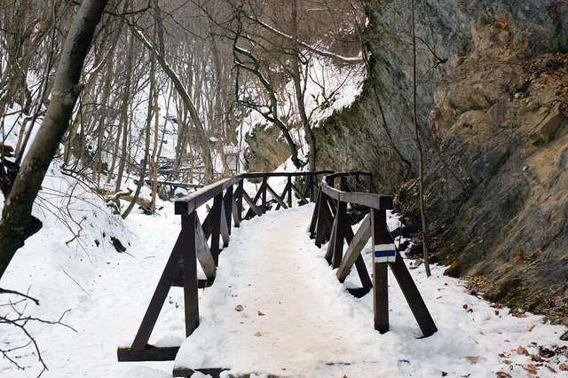 Hiking path in the valley