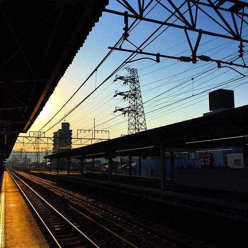 おはようございマシーン! 朝さむーい!! 五条川はどんな様子かのう? #japanese #sky #morning #sunrise #いまそら #イマソラ