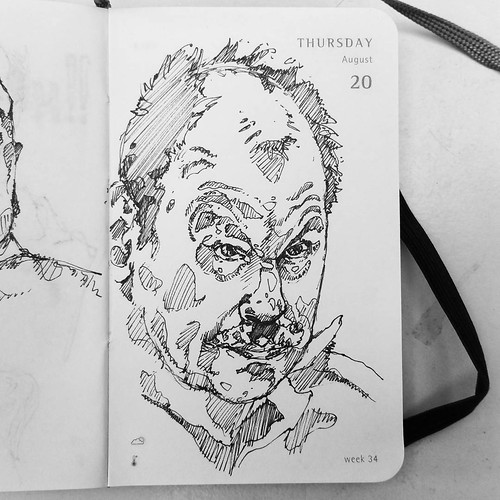 232 #365sketch les #tueurs en série, Gary Ridgway, the Green River #Killer, une cinquantaine de meurtres à son actif, étranglement et necrophilie au programme ! Serial #killer Gary Ridgway, the Green River Killer, fifty murders to his credit, strangulatio