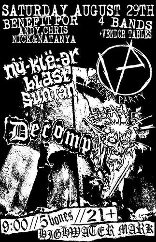 8/29/15 NuKleArBlastSuntan/ViolentParty/Decomp/Erradict