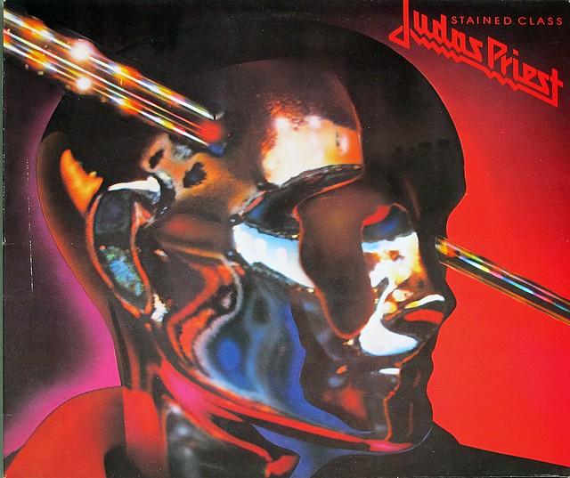 "JUDAS PRIEST STAINED GLASS 12"" LP VINYL"