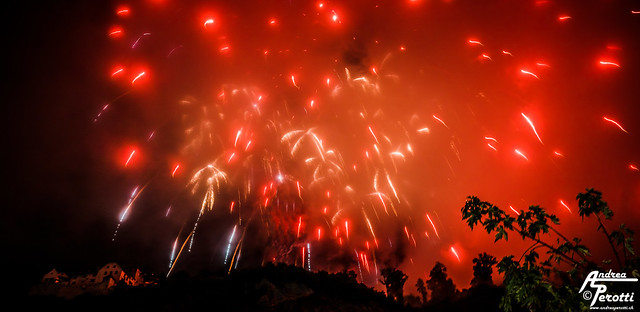 Fireworks in Liechtenstein - National Holiday 2015