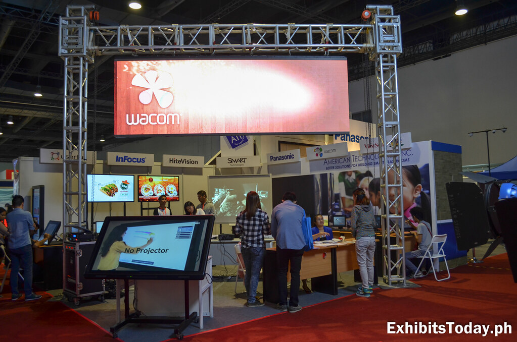 Wacom Exhibit Booth