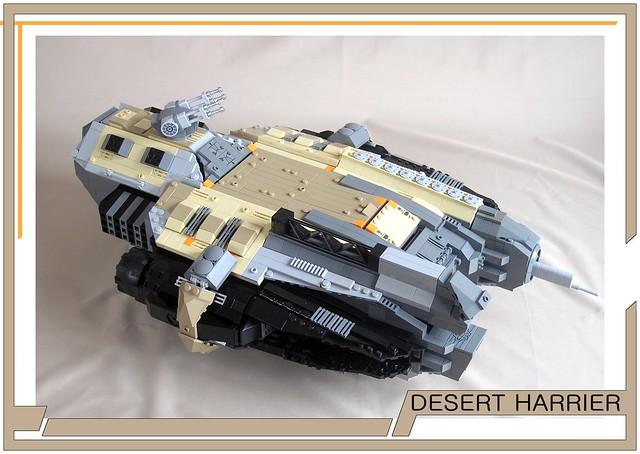 Spaceship 'Desert Harrier', by Lazarev N., on Eurobricks