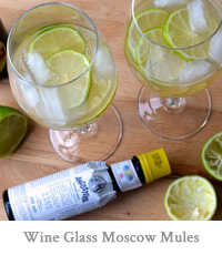 Wine Glass Moscow Mules
