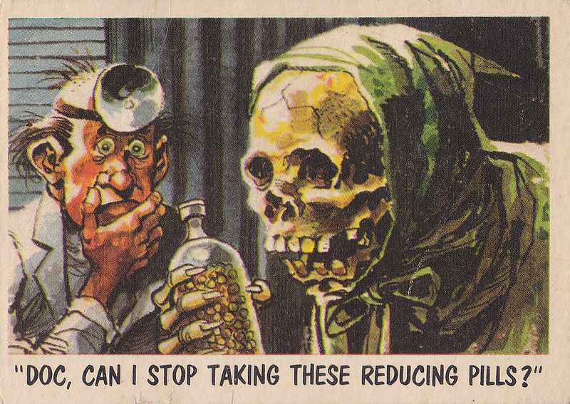 """You'll Die Laughing"" Topps trading cards 1959,  illustrated by Jack Davis (06)"