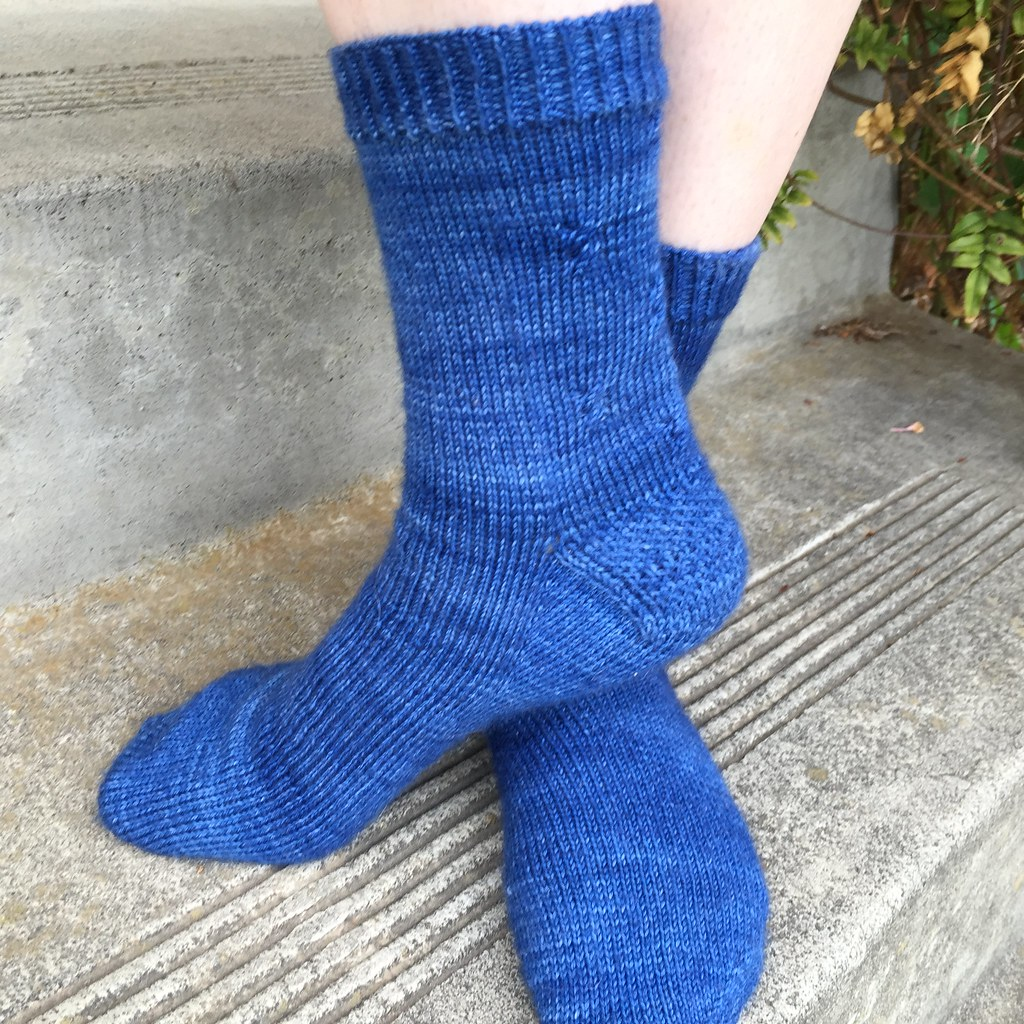blue tip top toe socks from front