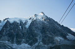 Mid station on our way to the Aiguille du Midi, Chamonix