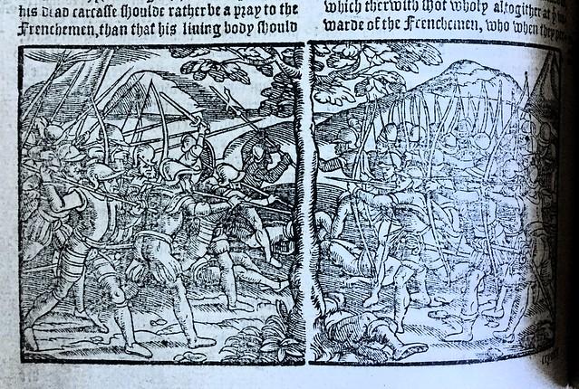 Holinshed Henry V woodcut Agincourt