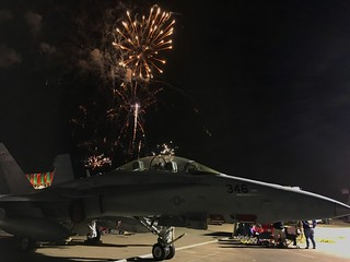 Fireworks over the Hornet