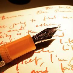 Delta Profili with #Iroshizuku yu-yake #writing #deltaprofili #fountainpen #pen #paperblanks
