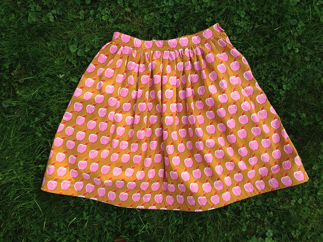 Pink Apples Dirndl Skirt