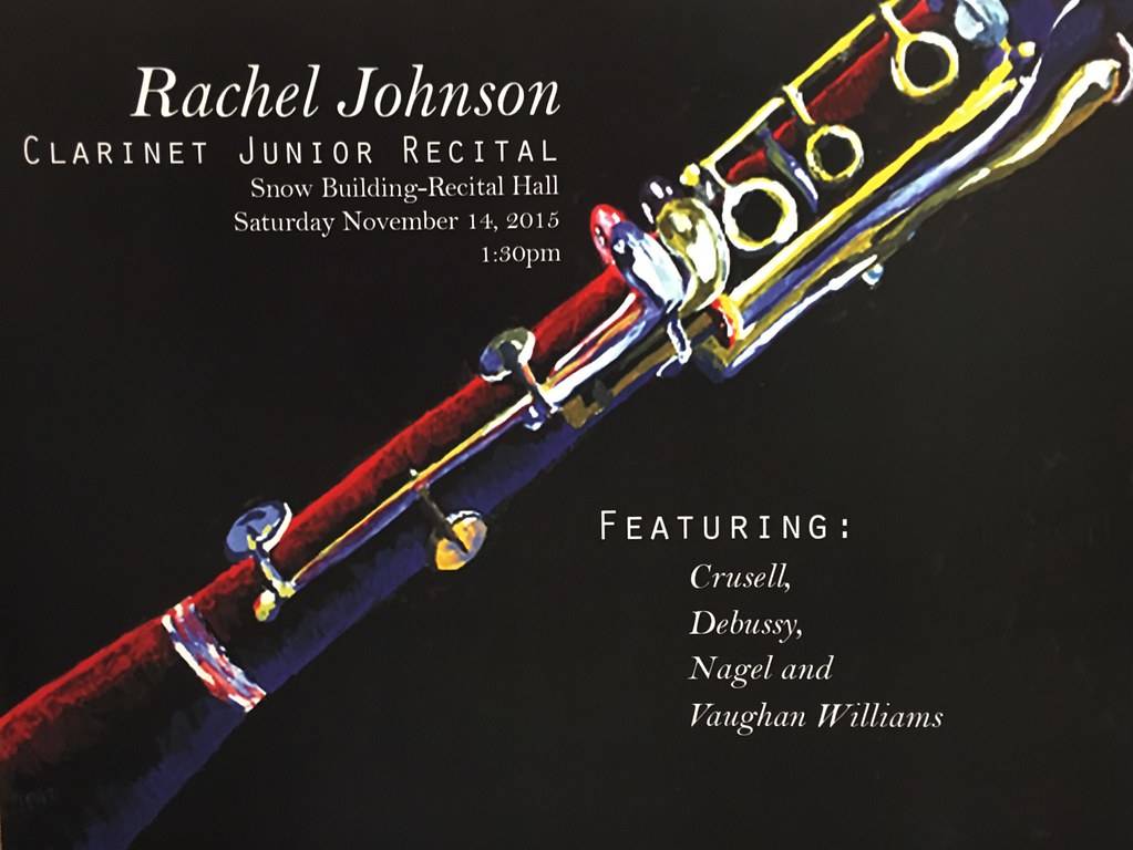 Rachel Johnson Clarinet Poster