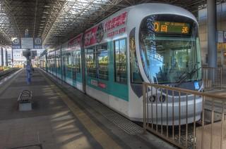 Tramcars at Hiroshima Port on OCT 28, 2015 (6)