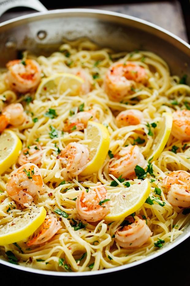 Shrimp Pasta With Lemon Cream Sauce Little Spice Jar