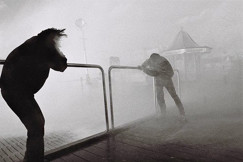 Stormy Day on Brighton Seafront - '97