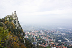 The Guaita, first of the famous three towers of San Marino