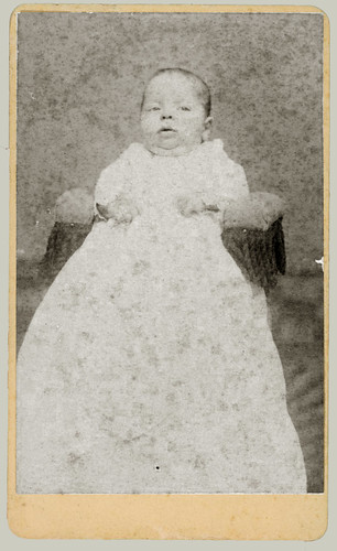 Baby in Christening gown.
