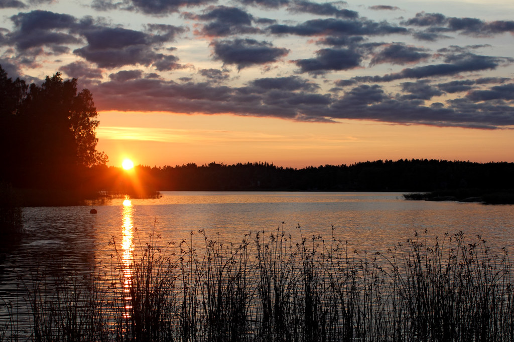 Sunset at Gulf of Finland