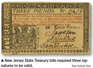 New Jersey Three Pounds Treasury Note