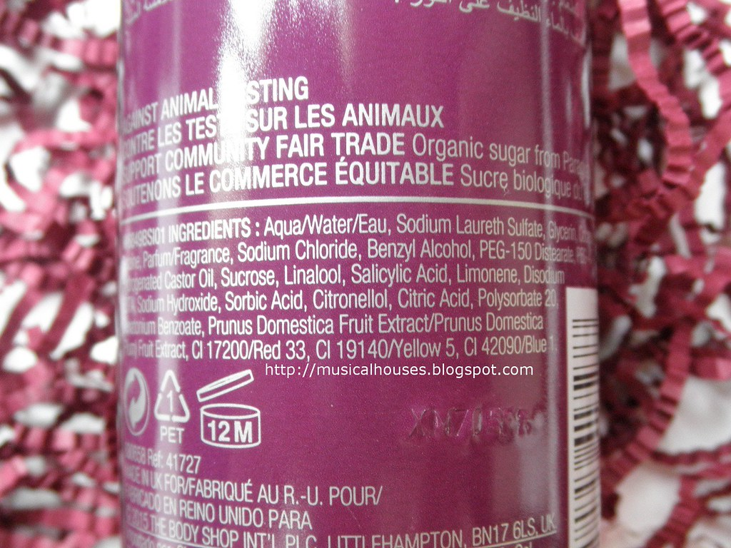 The Body Shop Frosted Plum Shower Gel Ingredients