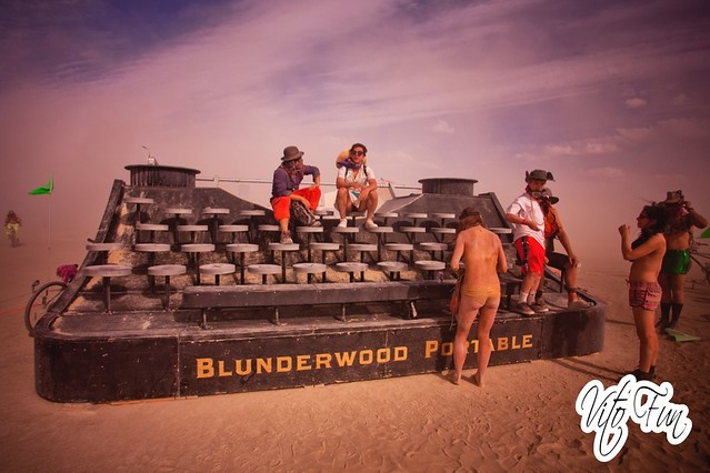 Burning Man 2015 223; Blunderwood Portable Typewriter