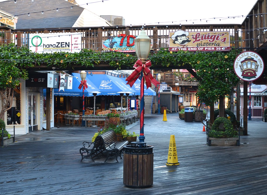 Early December morning at Fisherman's Wharf