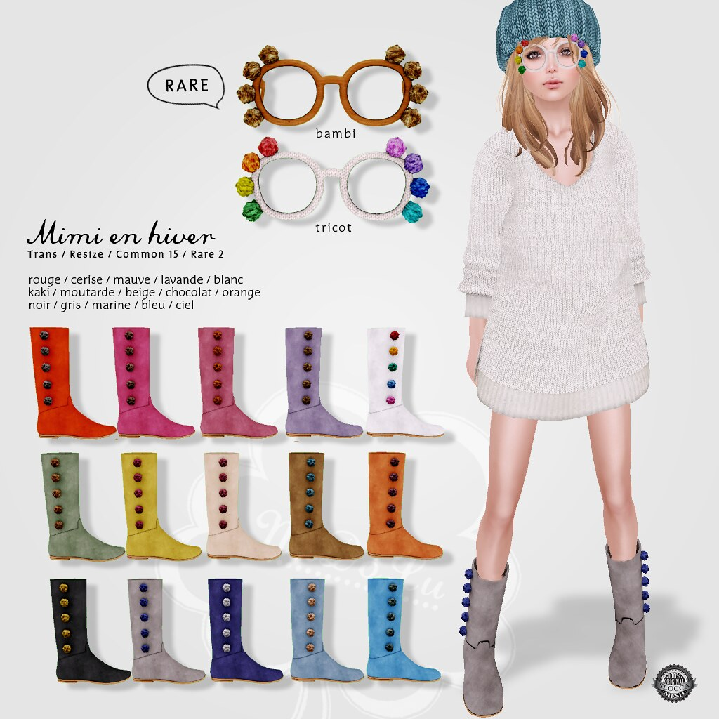 NuDoLu Mimi en hiver gacha All colors AD - SecondLifeHub.com