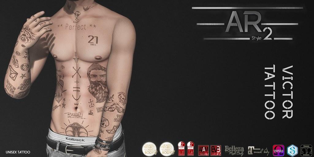 [AR2 Style] Victor Tattoo - SecondLifeHub.com