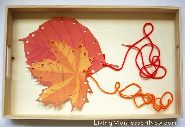 Fall Leaf Lacing Activity