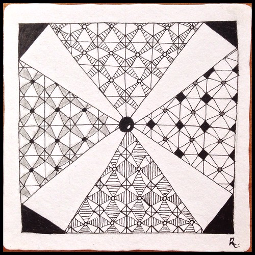 Zentangle 99, for The Diva's Challenge #234