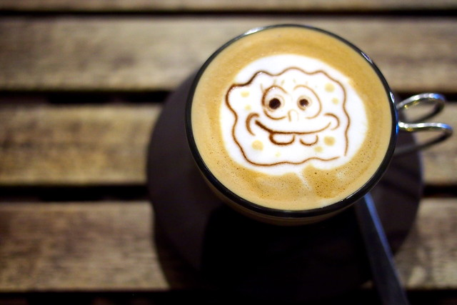 Latte Foam Art, Chock Full of Beans, Changi Village