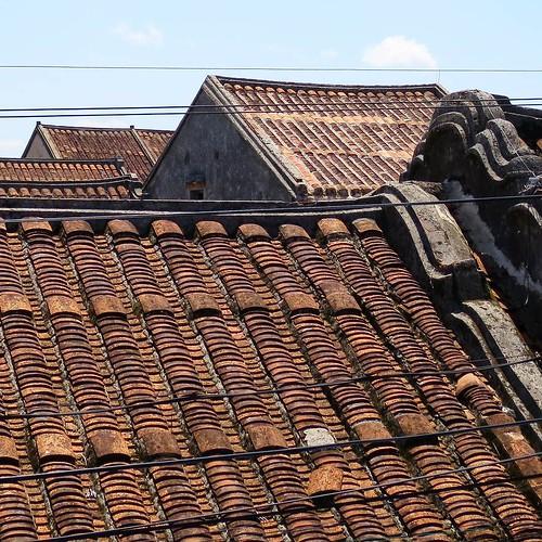 ベトナム ホイアンの屋根。