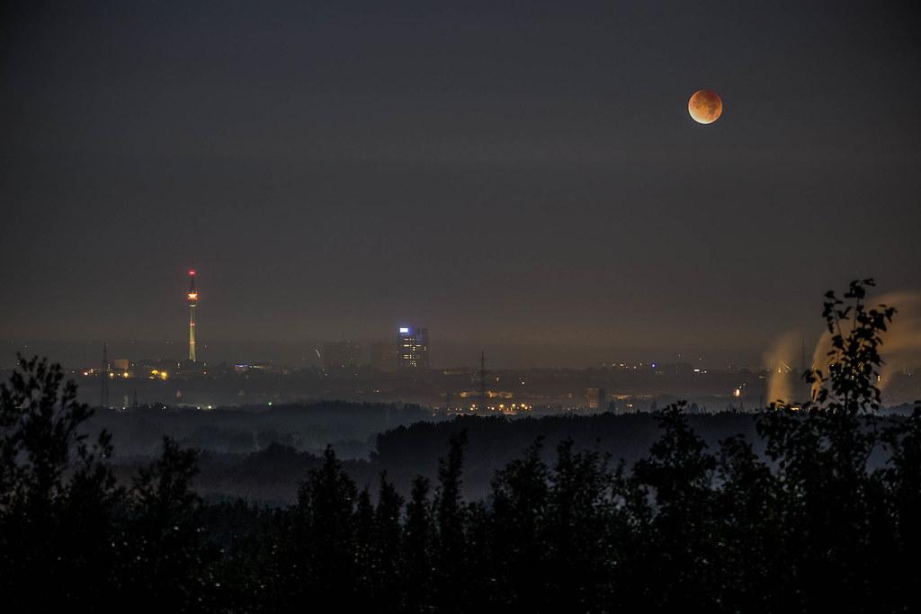 Mondfinsternis über Dortmund