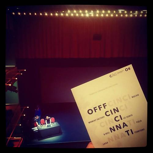 In between presentations at OFFF Cincinnati.