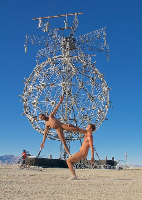 naturist acro-yoga gymnasium 0002 Burning Man 2015, Black Rock City, Nevada, USA