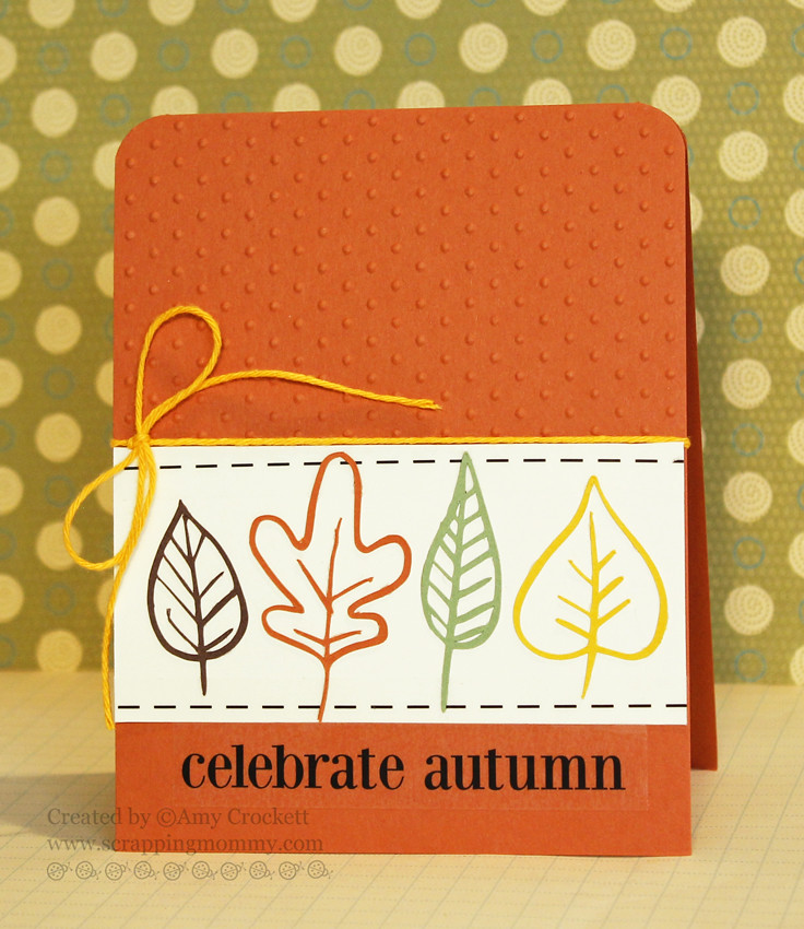 SRM Stickers Blog - Celebrate Autumn by Amy - #card #autumn #fall #stickers #stitches #sentiments #solidtwine
