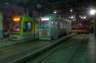 Tramcars at Kagoshima on OCT 23, 2014 (8)
