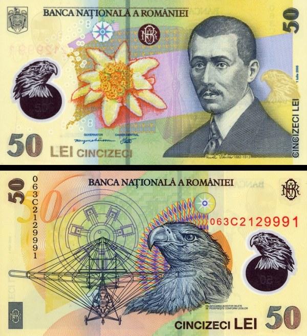 50 Lei Rumunsko 2005-2009, polymer