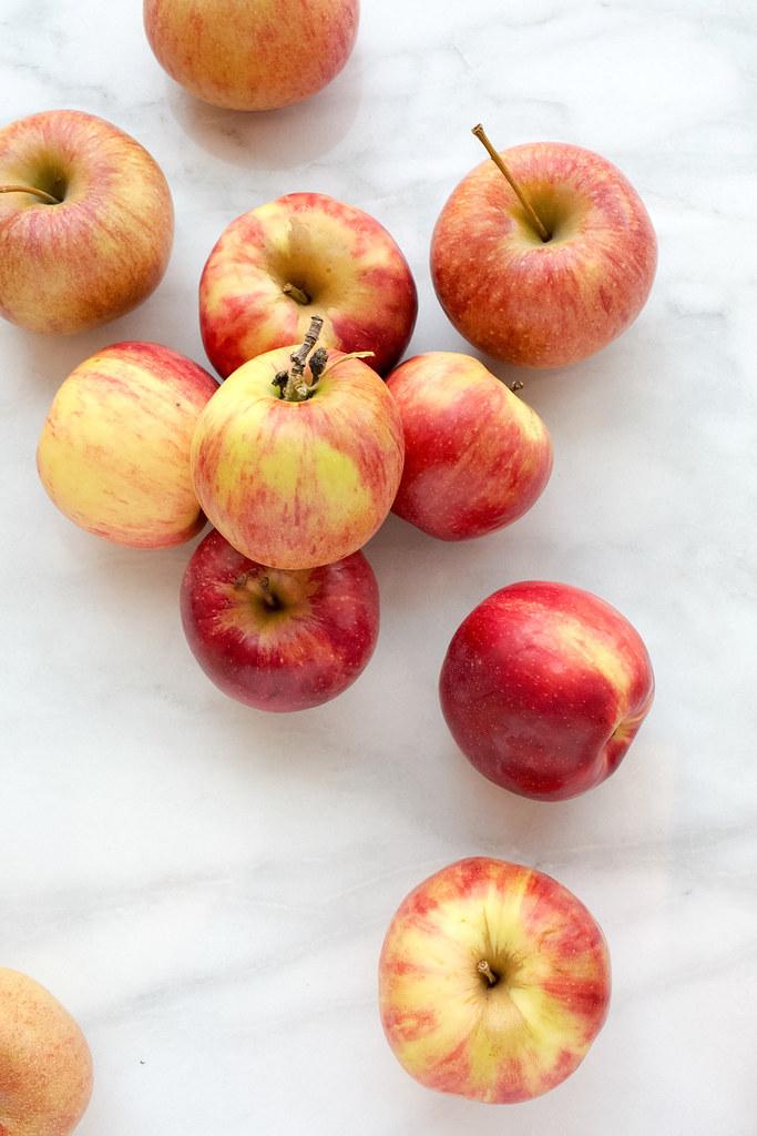 Jonathan and Cameo apples on board