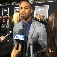 Michael B Jordan on the Black Carpet at the premiere of Creed #CREED - IMG_6728