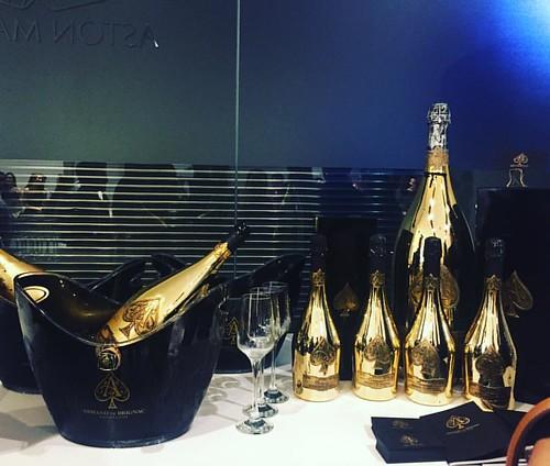 Armand De Brignac Champagne this evening #armanddebrignacchampagne #jamesbond #event #007 #astonmartin