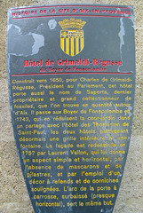 Photo of Hôtel de Grimaldi-Régusse, Charles de Grimaldi-Régusse, Boyer de Fonscolcombe, and Laurent Vallon grey plaque