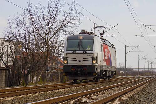 Vectron 193 822 passing Sesvete (Zagreb, Croatia)