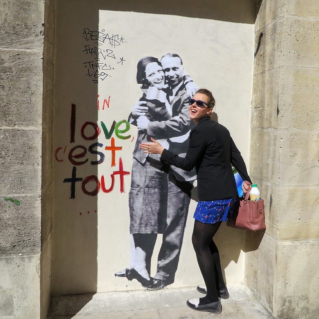 'Love is everything' graffiti in Paris