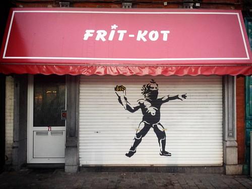 'Frit-Kot' - #Brussels #Belgium ##BrusselsLockdown #lockdown #street #photography #fritkot