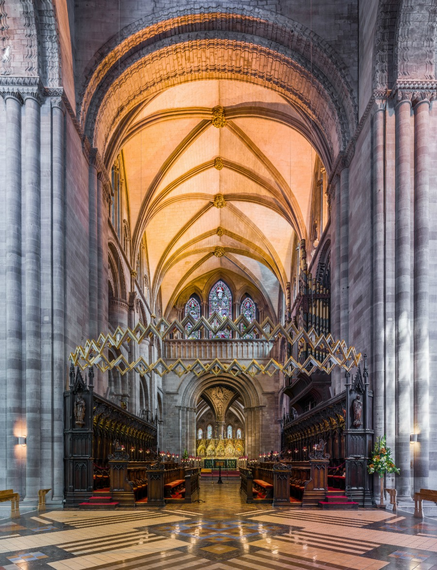 Hereford Cathedral - The Choir. Credit: David Iliff