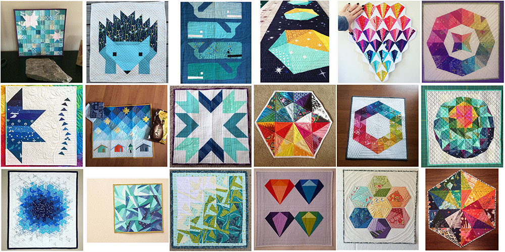 Blueberry Park mini swap mosaics